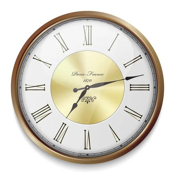 Vintage clock face template \u2014 Stock Vector © hayaship #28131425