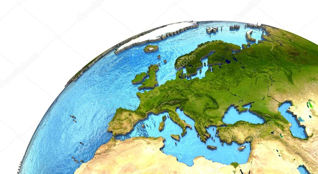 European continent on Earth \u2014 Stock Photo © tomgriger #106554174
