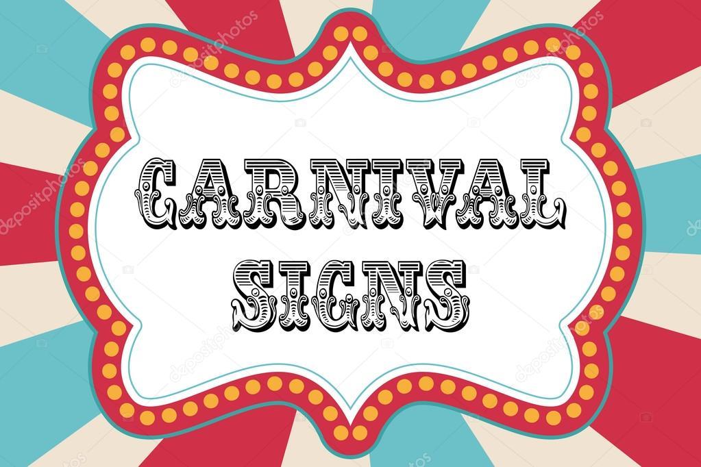 Carnival sign template \u2014 Stock Vector © sjhuls #72629517
