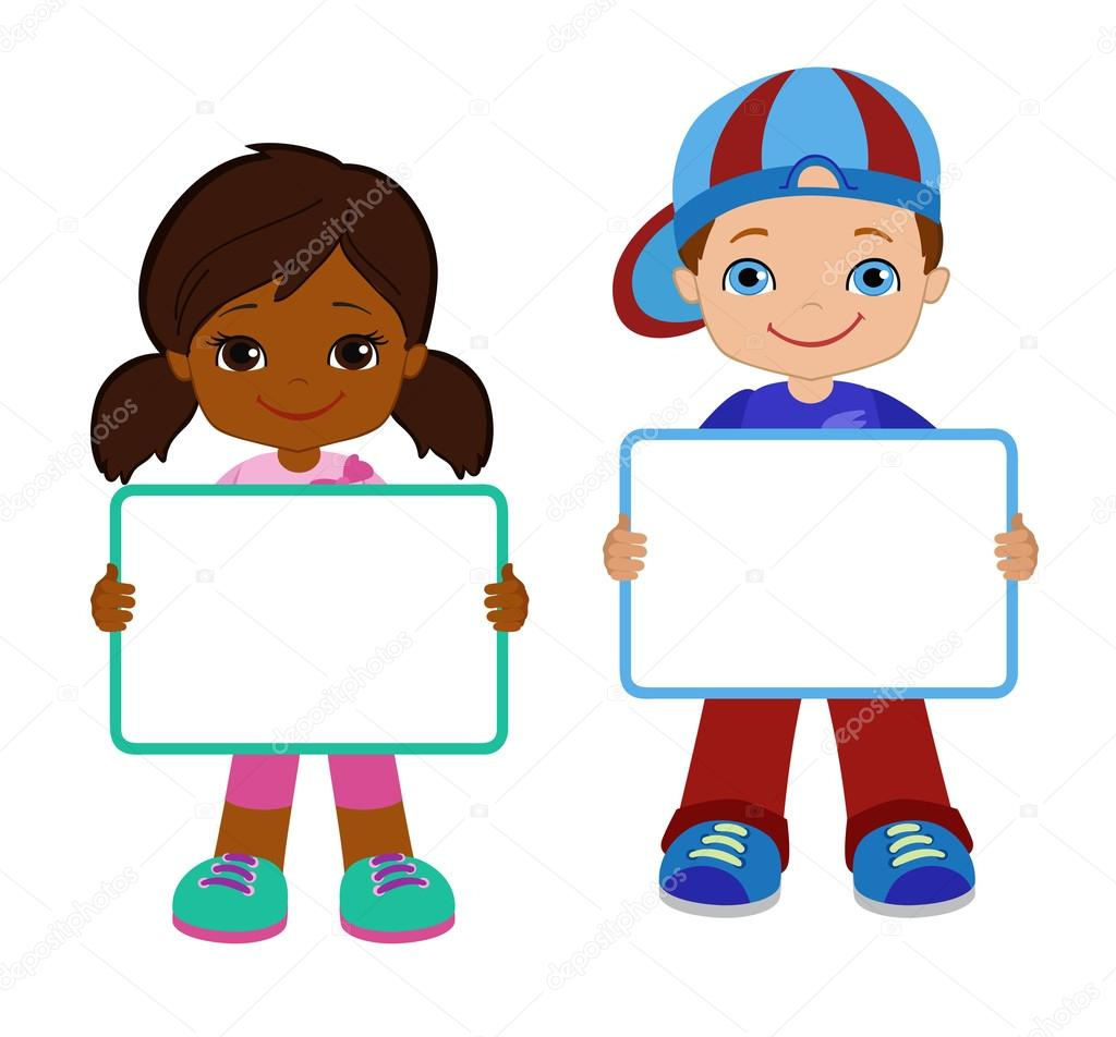 Cute Baby Girl Child Wallpaper Kids With Signs Bricht Kids Frame Board Clipart Child