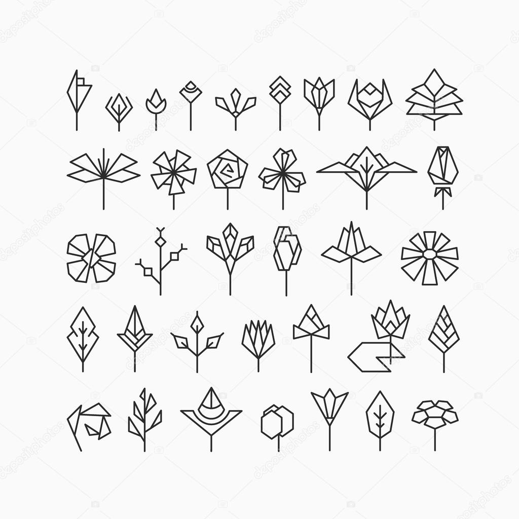 ᐈ Simple Flower Designs To Draw Stock Vectors Royalty Free Simple Flower Line Images Download On Depositphotos