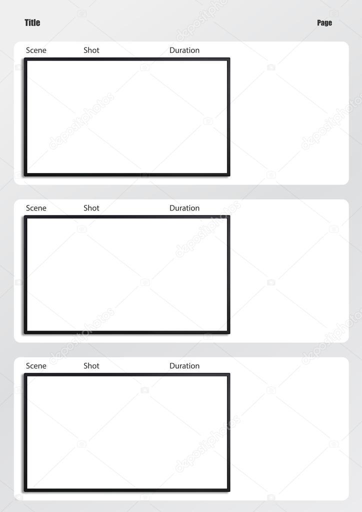 hdtv storyboard template 3 frame \u2014 Stock Photo © realcg #100812396