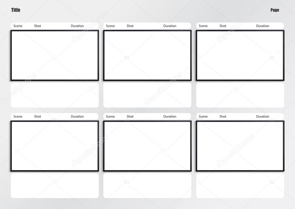 hdtv storyboard template 6 frame \u2014 Stock Photo © realcg #100812426