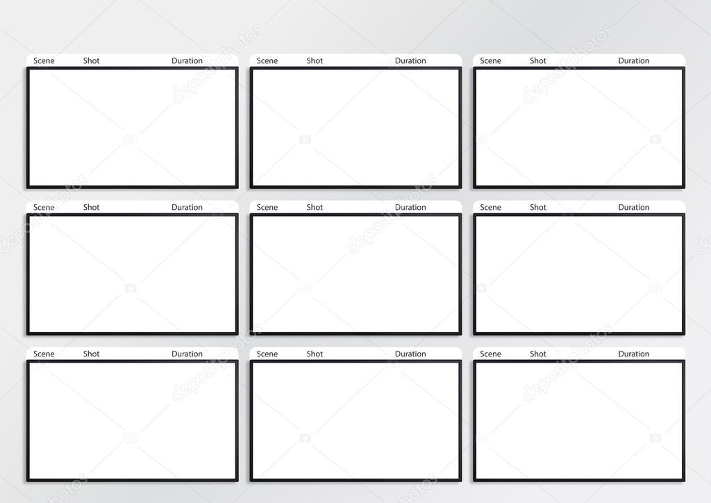hdtv storyboard template 9 frame \u2014 Stock Photo © realcg #100812428