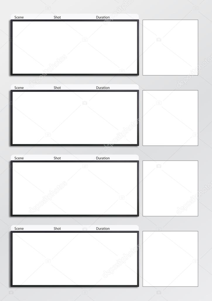 Film storyboard template vertical x4 \u2014 Stock Photo © realcg #100865086