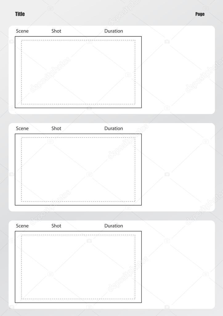 Profissional de modelo de storyboard do filme vertical u2014 Vetores - vertical storyboard