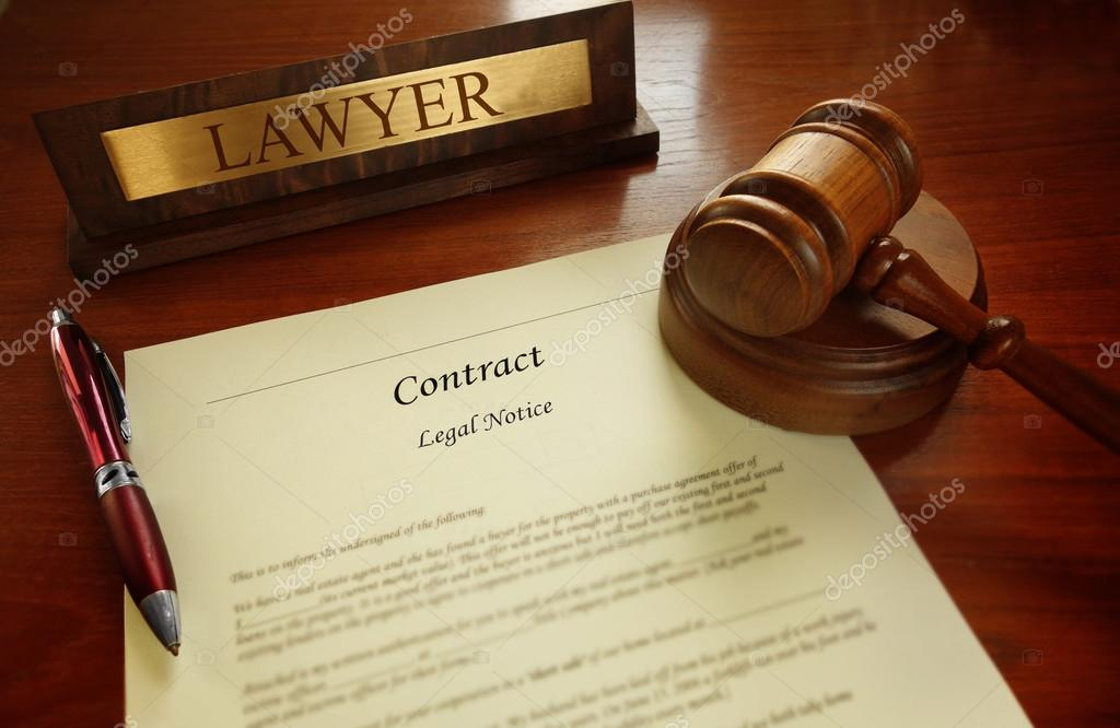 Legal contract with judge gavel \u2014 Stock Photo © zimmytws #73683803