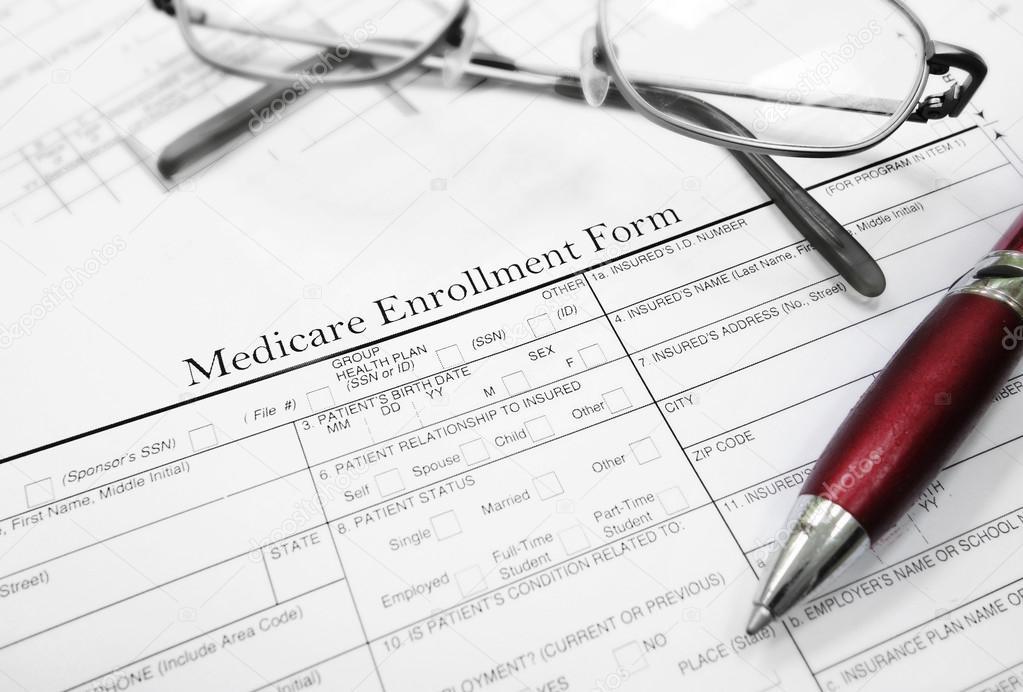 Medicare enrollment form \u2014 Stock Photo © zimmytws #77931368
