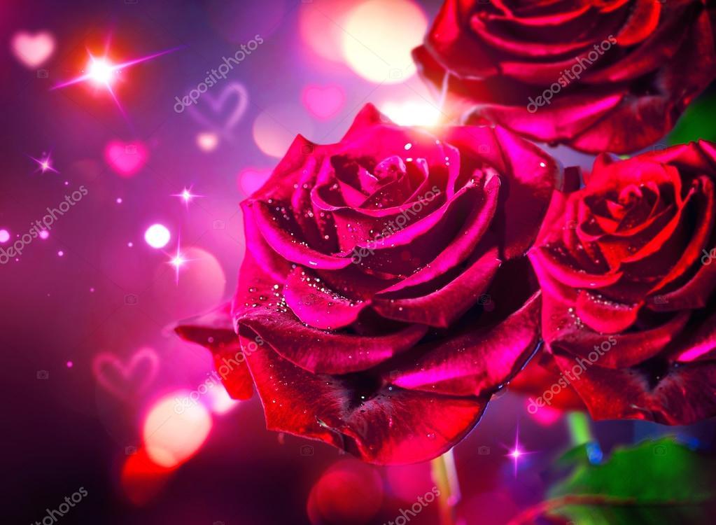 Fondo rosas y corazones \u2014 Foto de stock © Subbotina #100197722 - rosas y corazones