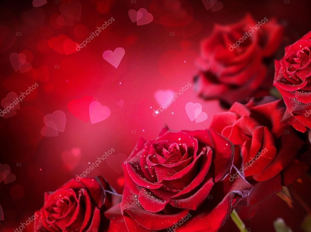 Fondo rosas y corazones \u2014 Fotos de Stock © Subbotina #74126081 - rosas y corazones
