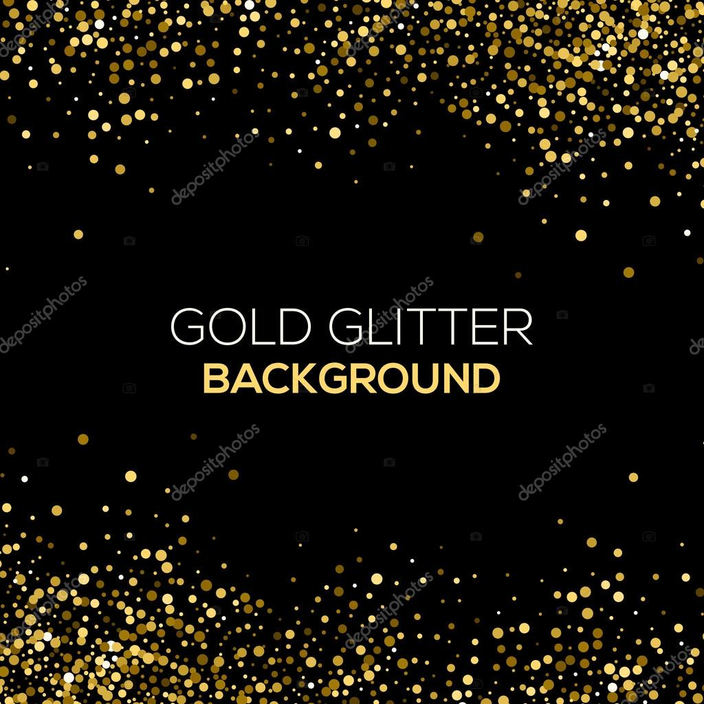 Free Snow Falling Live Wallpaper Gold Confetti Glitter On Black Background Abstract Gold