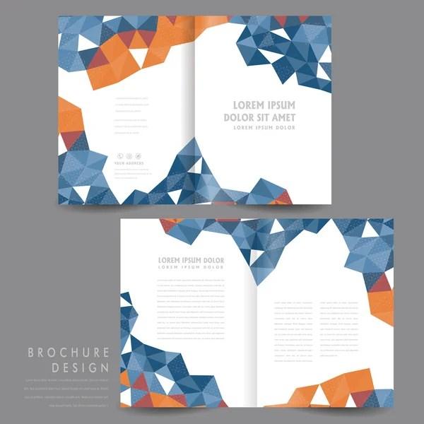 half-fold brochure template design \u2014 Stock Vector © kchungtw #59259631 - half fold brochure template