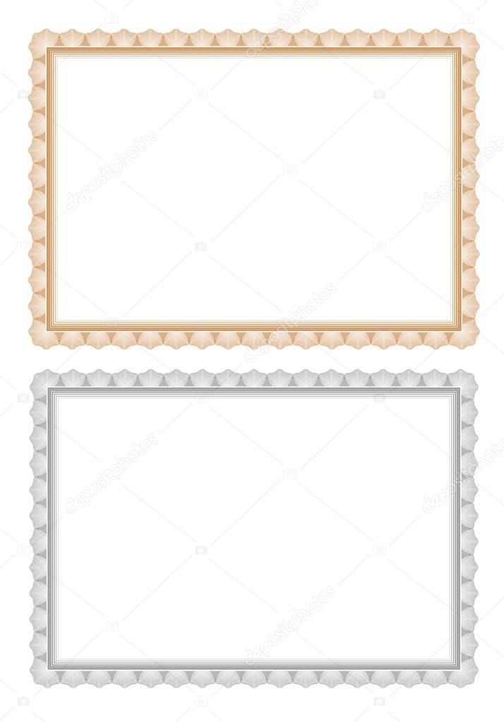 certificate border template frame \u2014 Stock Vector © robisklp #118381504 - certificate border template