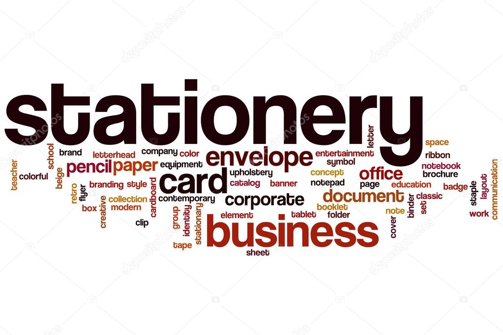 Stationery word cloud \u2014 Stock Photo © ibreakstock #101255616 - stationery for word documents