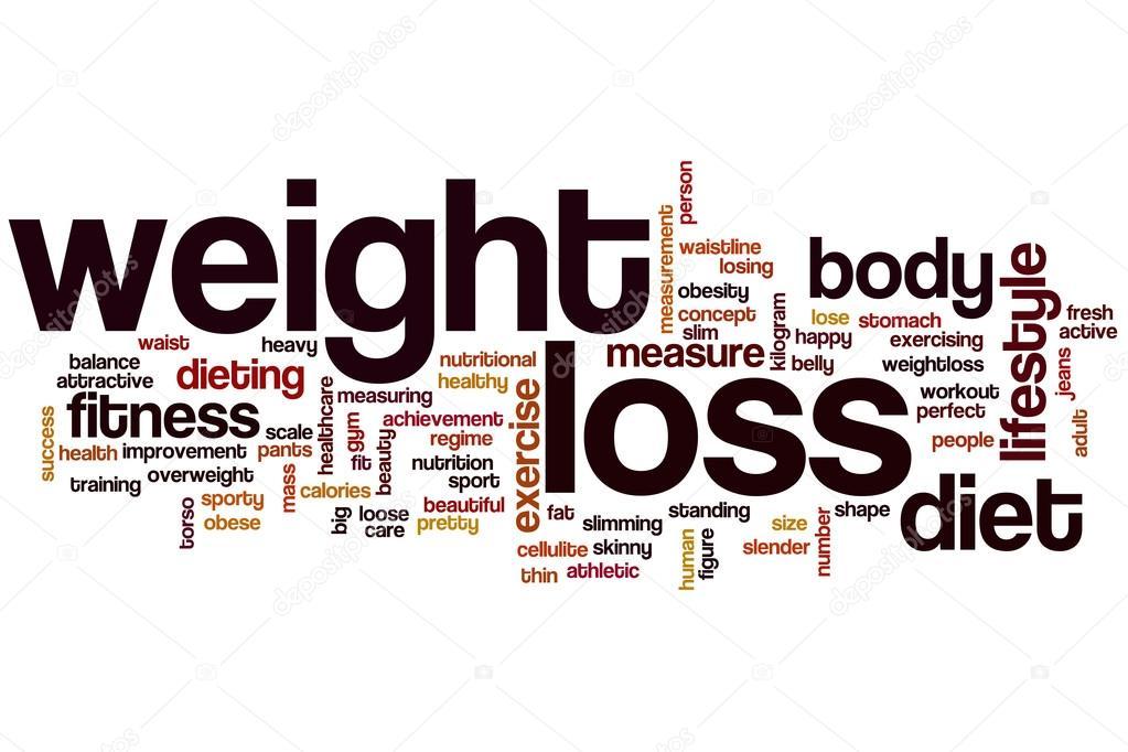 Weight loss word cloud \u2014 Stock Photo © ibreakstock #101302284