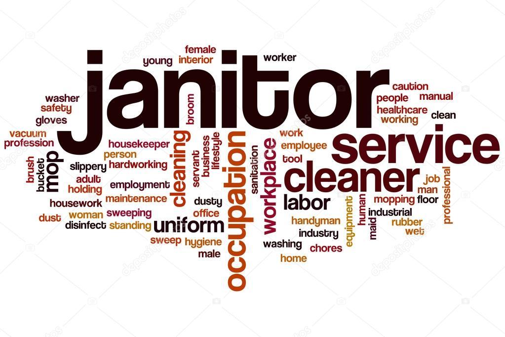 Janitor word cloud \u2014 Stock Photo © ibreakstock #102894822