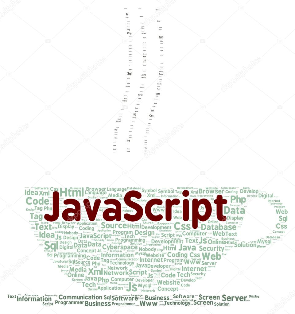 Javascript Cloud Javascript Word Cloud Shape Stock Photo Ibreakstock 102894860