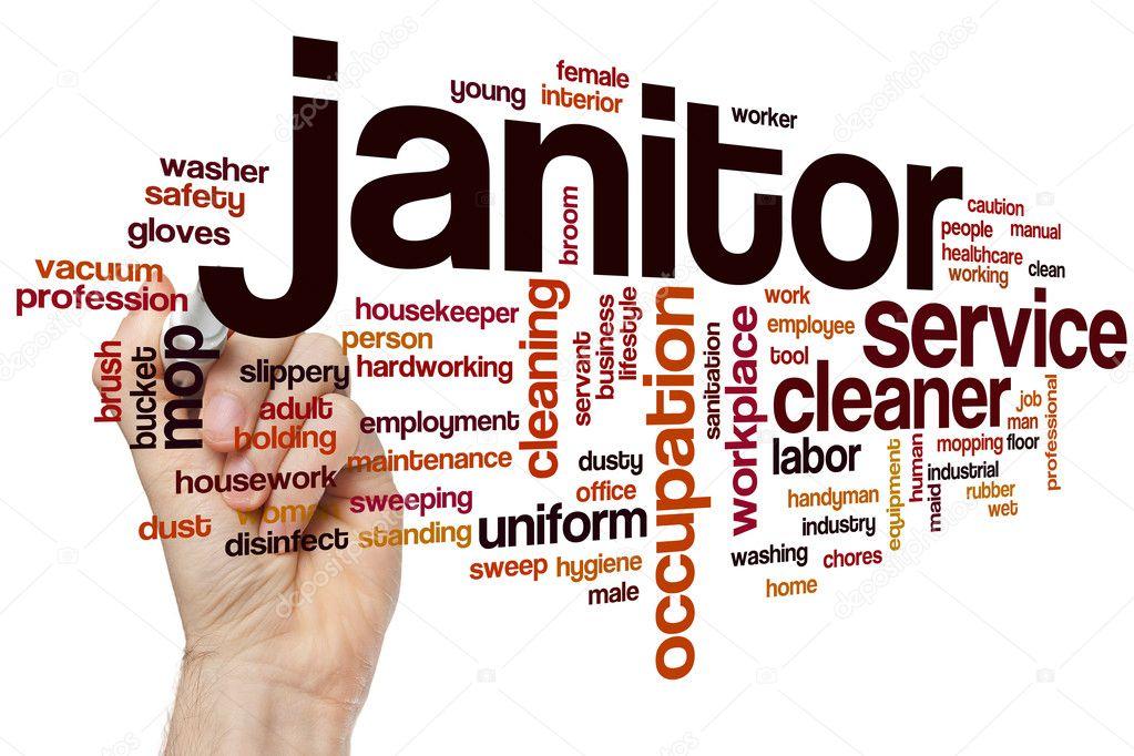 Janitor word cloud \u2014 Stock Photo © ibreakstock #105195338