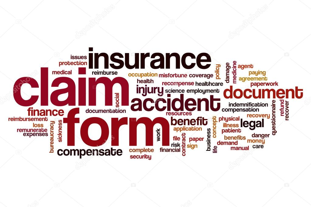 Claim form word cloud \u2014 Stock Photo © ibreakstock #119596702