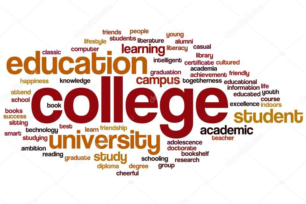 College word cloud \u2014 Stock Photo © ibreakstock #99564450