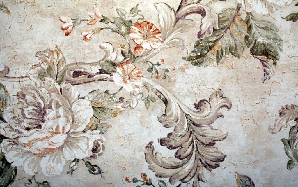 Papel Pintado Vintage Floral Patron Victoriano Y