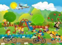 Cartoon Kids Playground | www.pixshark.com - Images ...