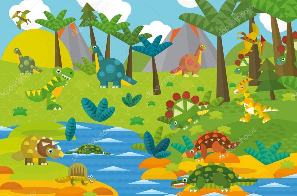 Ice Cream Girl Wallpaper Cartoon Dinosaur Land Stock Photo 169 Illustrator Hft
