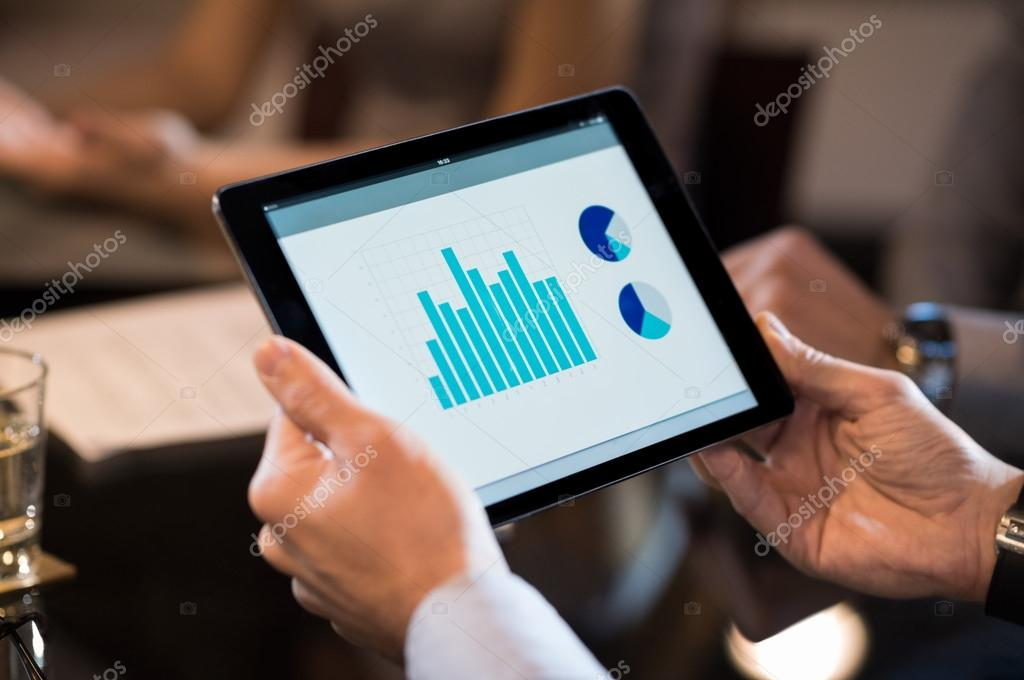 Digital tablet with business chart \u2014 Stock Photo © ridofranz #101954266 - business tablet