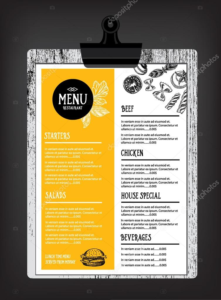 Cafe menu restaurant brochure \u2014 Stock Vector © Marchi #75508471