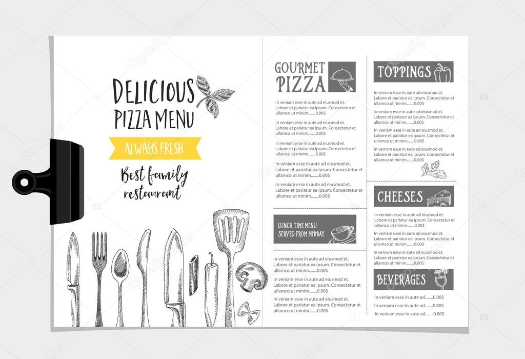 Restaurant cafe menu, template design \u2014 Stock Vector © Marchi #92351730 - Cafe Menu Template