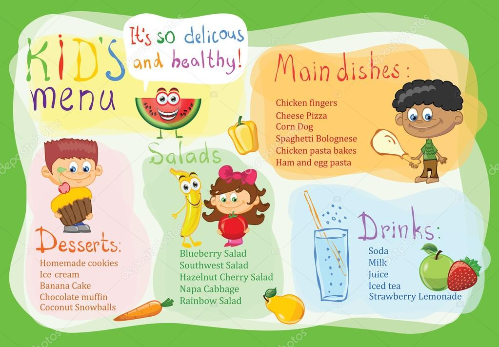 Sample Kids Menu Template Sample Daycare Menu Templates Best