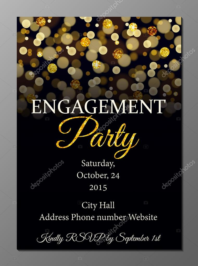 Engagement party invitation card \u2014 Stock Vector © Mariam2707 #74080435