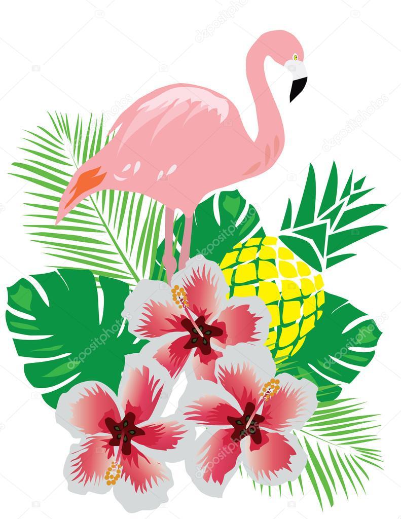 Lilly Pulitzer Fall Wallpaper Vectores Tropicales Flamingo Vector De Stock 169 Lilac