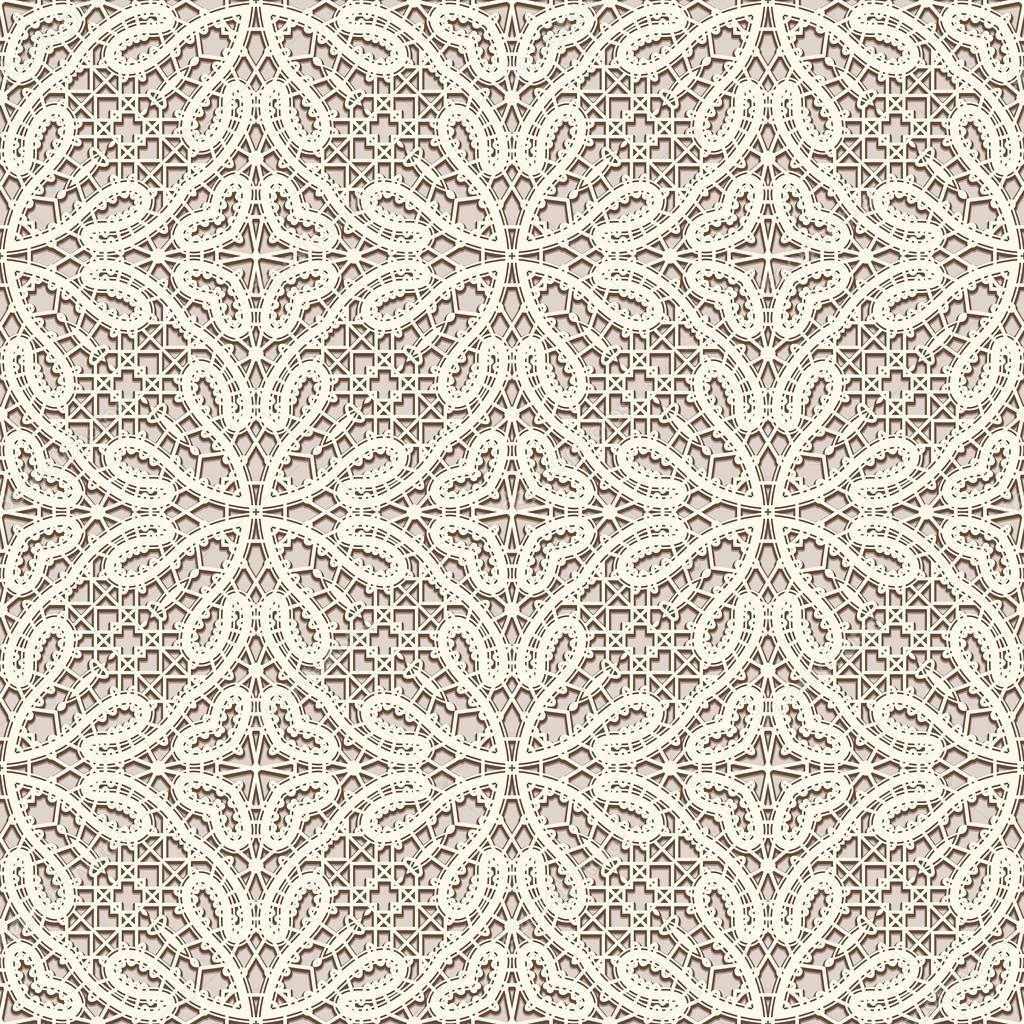 Brown Seamless Fabric Textures Vintage Lace Fabric Texture Seamless Pattern Stock