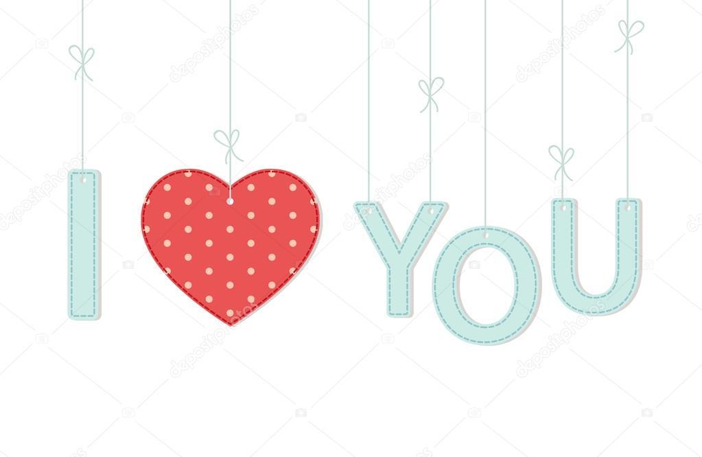 Cartão de dia dos namorados com cartas e coração \u2014 Vetores de Stock