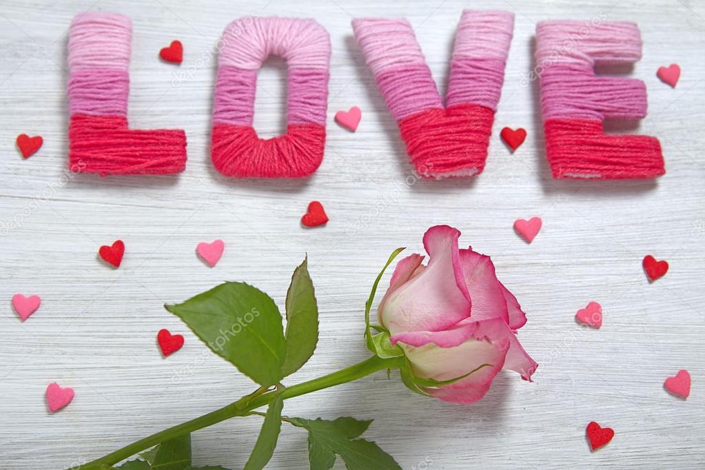 Conceito de dia dos namorados com cartas de amor \u2014 Stock Photo