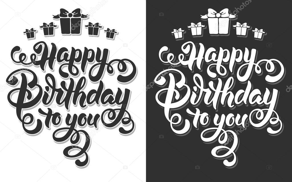 Feliz cumpleaños Letras \u2014 Vector de stock © Pazhyna #99203378