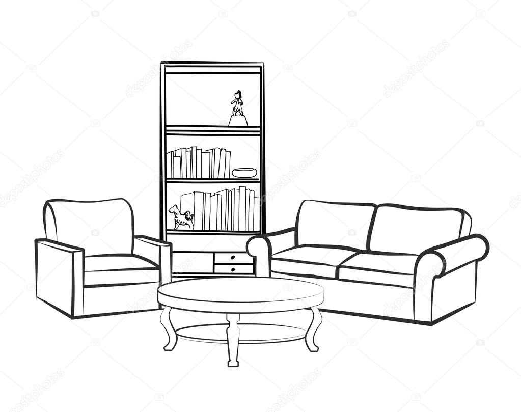 Sessel Zeichnen Sortiment