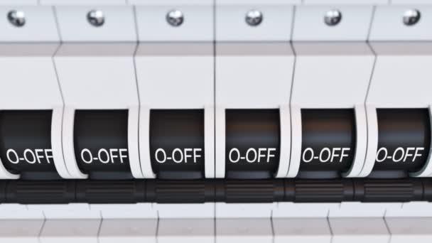 New type Trip Switch Fuse box \u2014 Stock Video © 3dmentat #78407888