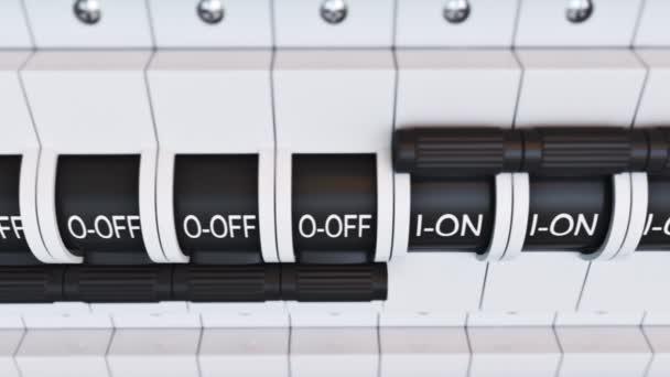 New type Trip Switch Fuse box \u2014 Stock Video © 3dmentat #78410204