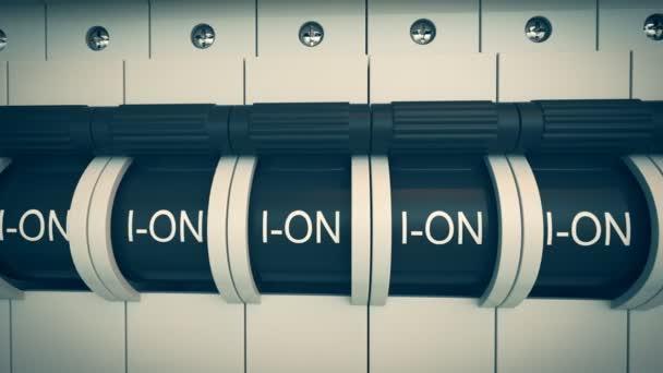 New type Trip Switch Fuse box \u2014 Stock Video © 3dmentat #78412310