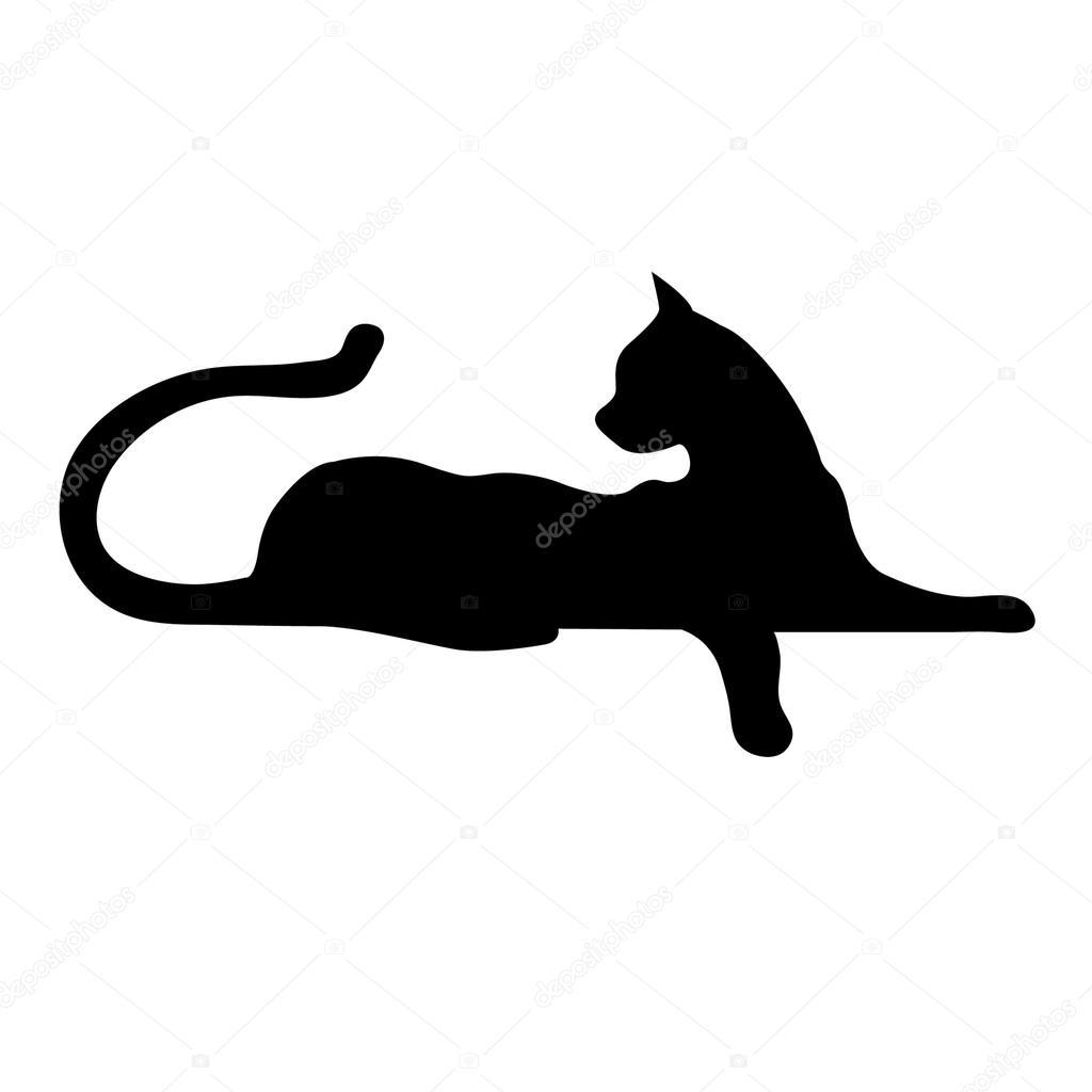 Halloween Black Cat Wallpaper La Sagoma Di Un Gatto Vettoriali Stock 169 Max048 74883293