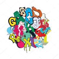 Lettere di alfabeto dei caratteri graffiti variopinti ...