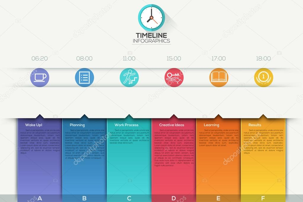 Business timeline infographic template \u2014 Stock Vector © epic_fail