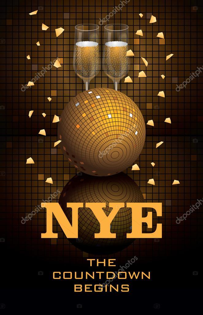 New Year\u0027s Eve Poster Template \u2014 Stock Vector © JessJagmin #54044617 - new year poster template