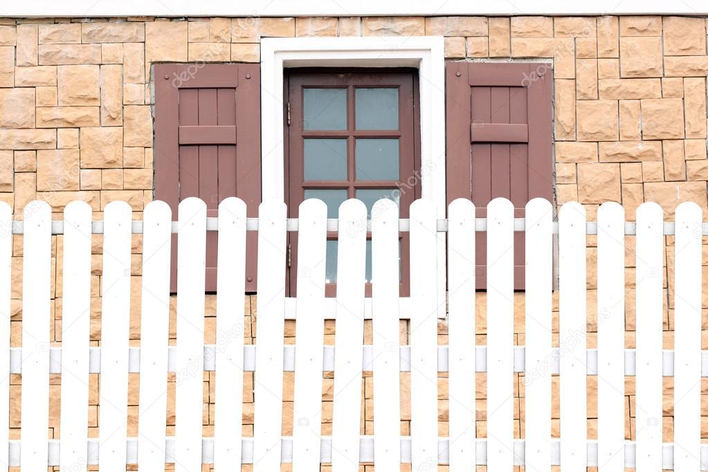 White fences and windows \u2014 Stock Photo © meepoohyaphoto #70007829