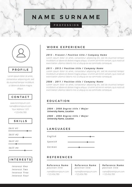 CV Resume, Curriculum Vitae Menu Outline Badge Design \u2014 Stock Vector - cv outline