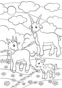 Disegni da colorare. Animali da fattoria. Famiglia della ...