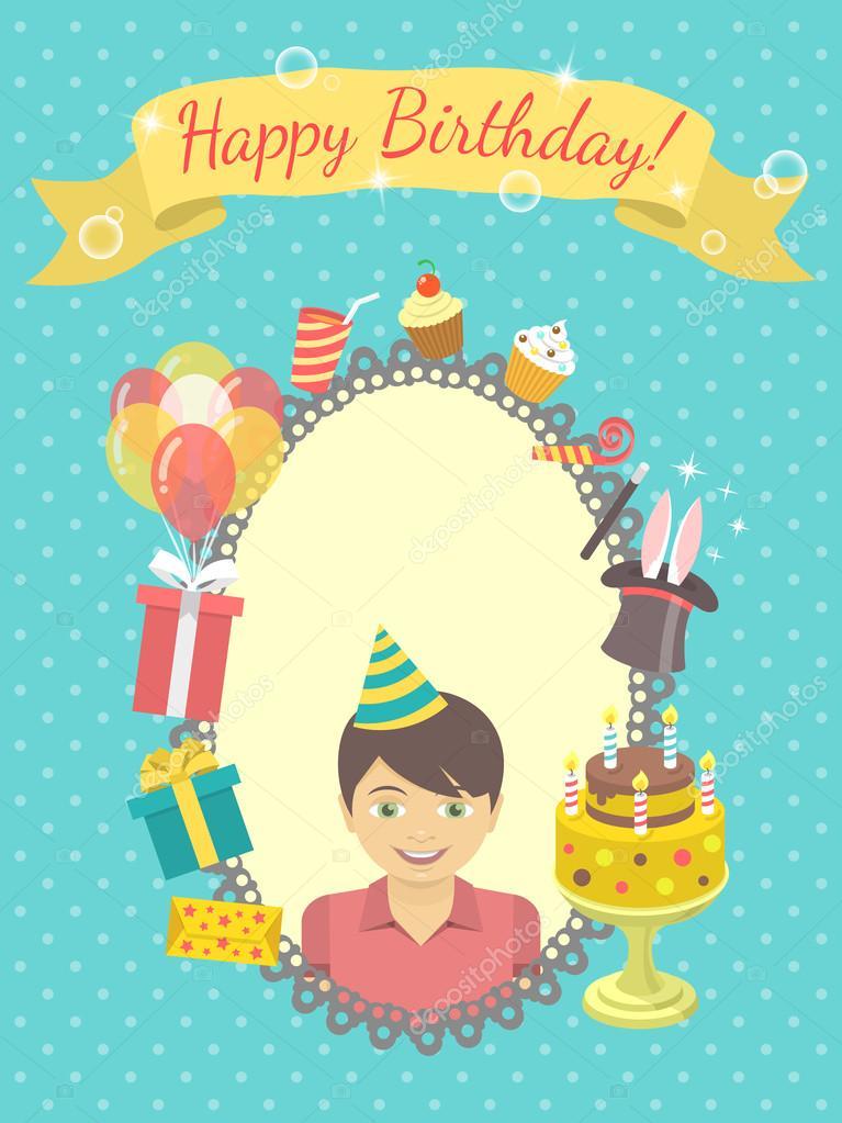 Imágenes tarjetas de cumpleaños para niños Tarjeta del feliz
