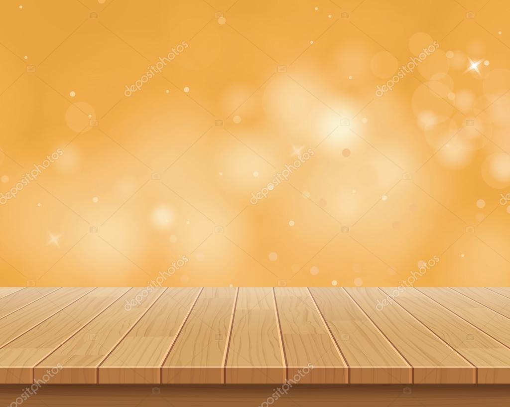 Hd Autumn Desktop Wallpaper 木桌上金黄散景矢量抽象背景 图库矢量图像 169 Kaisorn4 99871062